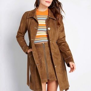 NWT. Modcloth Women's A Touchy Subject Trench Coat